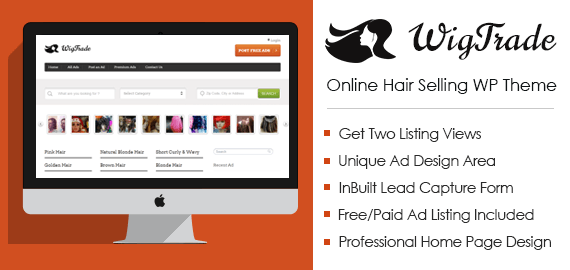 Online Hair Selling WordPress Theme