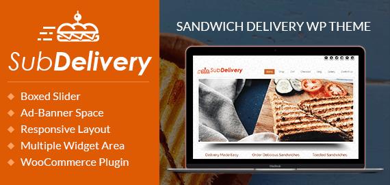 Sandwich Delivery WordPress Theme
