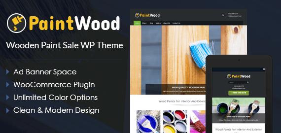 Wooden Paint Sale WordPress Theme