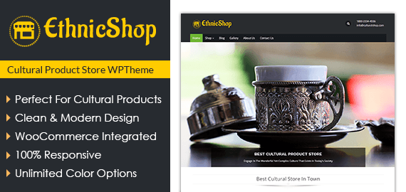 Cultural Product Store WordPress Theme