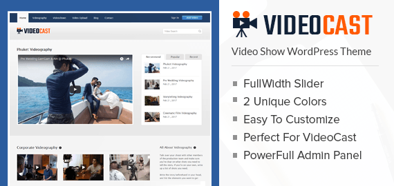 Video Show WordPress Theme