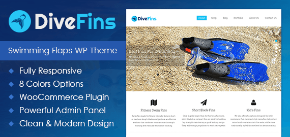 Swimming Flaps Sale WordPress Theme