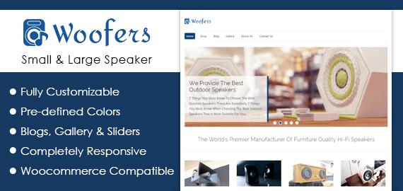 Small And Large Speaker WordPress Theme