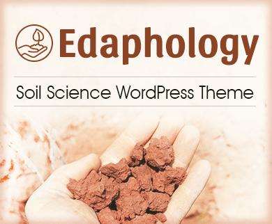 Edaphology - Soil Science WordPress Theme & Template