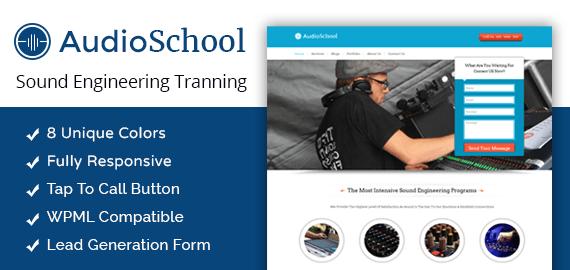 Sound Engineering Training WordPress Theme & Template