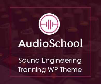 Audio School - Sound Engineering Training WordPress Theme & Template
