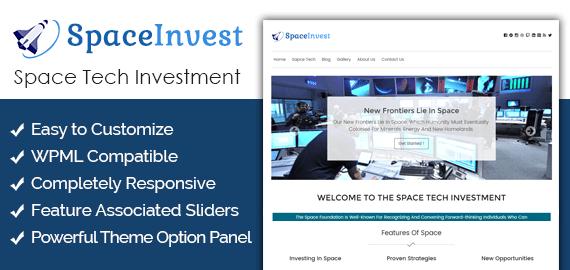 Space Tech Investment WordPress Theme