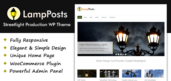 Streetlight Production WordPress Theme