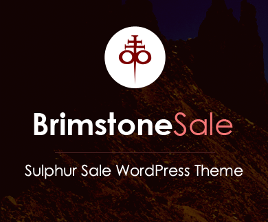 Brimstone Sale - Sulphur Sale WordPress Theme & Template