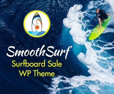 Smooth Surf - Surfboard Sale WordPress Theme & Template