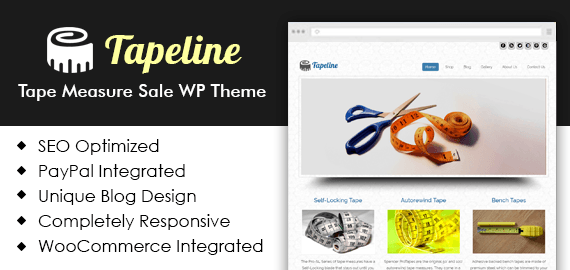 Tapeline] Tape Measure Sale WordPress Theme | InkThemes