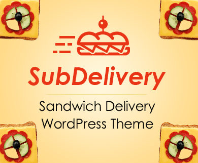 Sub Delivery - Sandwich Delivery WordPress Theme And Template
