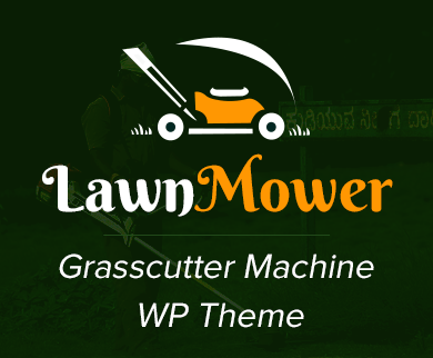 Lawn Mower - Grasscutter Machine WordPress Theme & Template