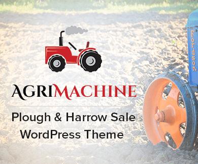 Agri Machine - Plough And Harrow Sale WordPress Theme & Template