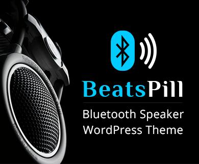 Beats Pill - Bluetooth Speaker WordPress Theme & Template