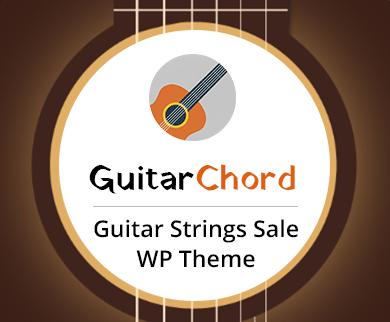 Guitar Chord - Guitar Strings Sale WordPress Theme & Template