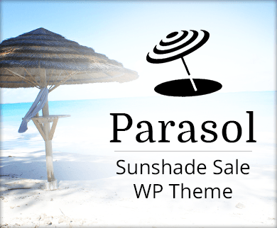 Parasol - Sunshade Sale And Production WordPress Theme & Template