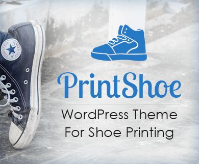 Print Shoe - Shoe Printing WordPress Theme & Template