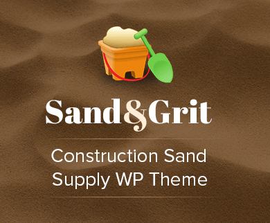 Sand & Grit - Construction Sand Supply WordPress Theme & Template