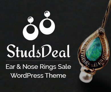 Studs Deal - Ear And Nose Rings Sale WordPress Theme And Template