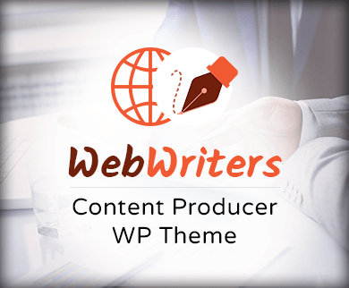 Web Writers - Content Producer WordPress Theme And Template