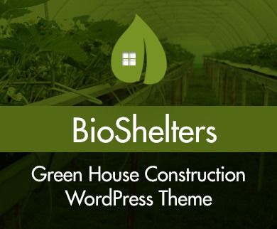 Bio Shelters - GreenHouse Construction WordPress Theme & Template