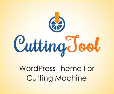 Cutting Tool - Cutting Machine WordPress Theme & Template