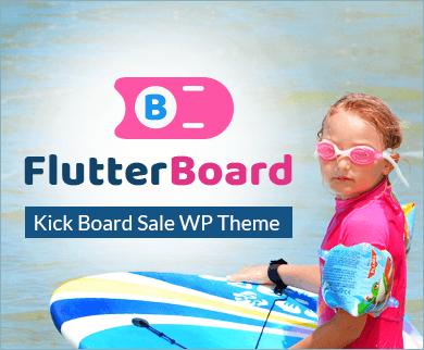 Flutter Board - Kick Board Sale WordPress Theme & Template