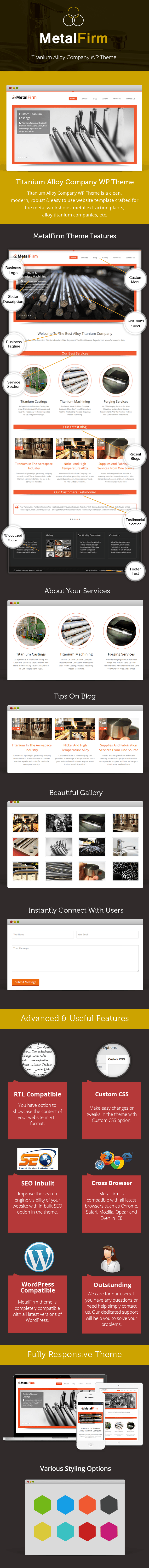 Titanium Alloy Company WordPress Theme Sales