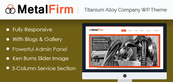 Titanium Alloy Company WordPress Theme