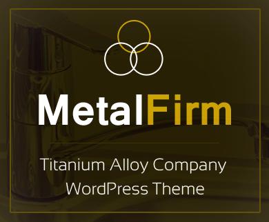 Metal Firm -  Titanium Alloy Company WordPress Theme & Template