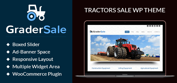 Tractors Sale WordPress Theme