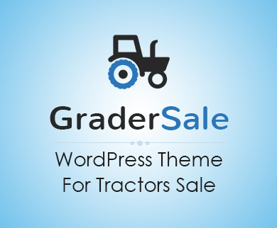 Grader Sale - Tractors Sale WordPress Theme & Template