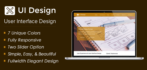ui design user interface design wordpress theme inkthemes