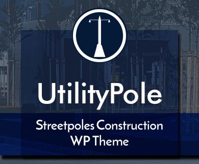 Utility Pole - Streetpoles Construction WordPress Theme & Template