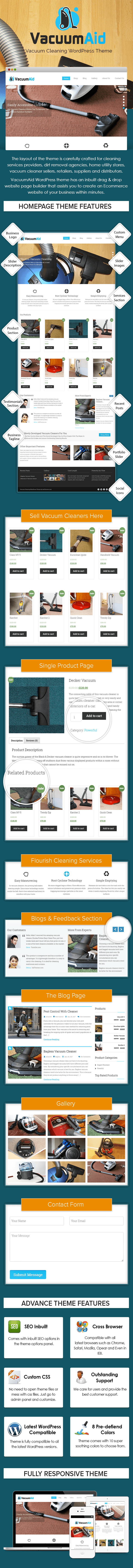 Vacuum Cleaning WP Theme