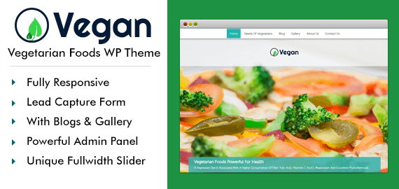 Vegetarian Foods WordPress Theme