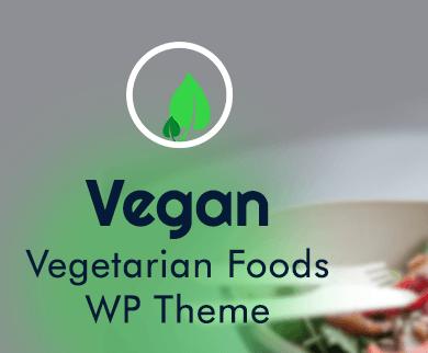 Vegan - Vegetarian Foods WordPress Theme & Template