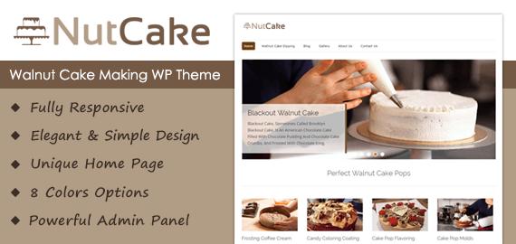 Walnut Cake Making WordPress Theme
