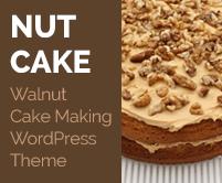 Nut Cake - Walnut Cake Making WordPress Theme & Template