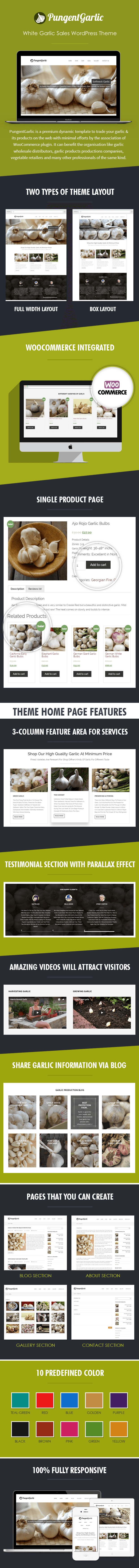 White Garlic Sales WordPress Theme Sales