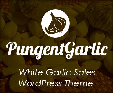 Pungent Garlic - White Garlic Sales WordPress Theme & Template