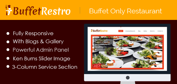 Buffet Only Restaurant WordPress Theme