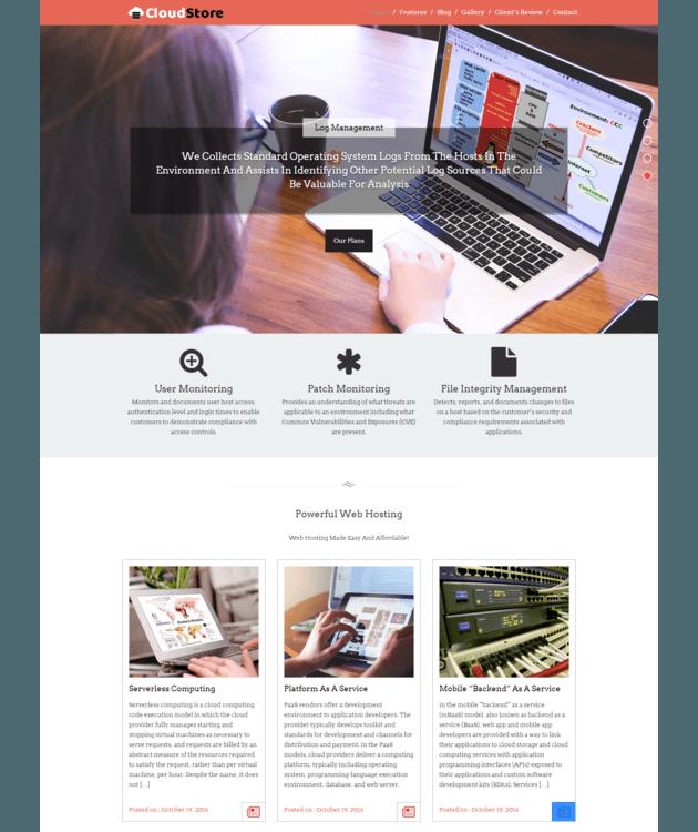 Cloudstore WordPress Theme