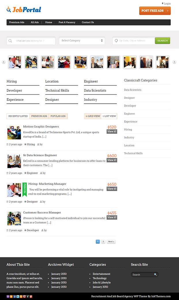 Job Portal - Recruitment And Job Board Agency WordPress Theme & Template