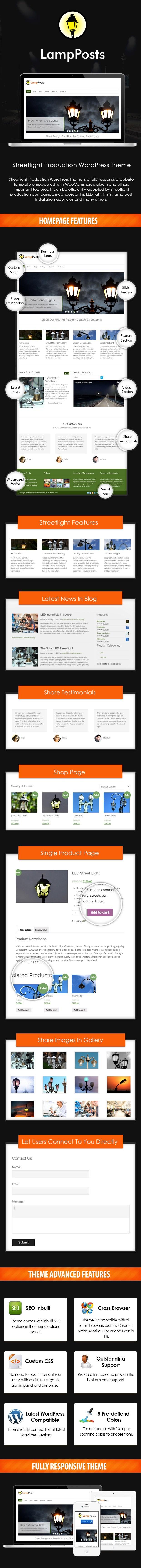 Streetlight Production WordPress Theme Sales