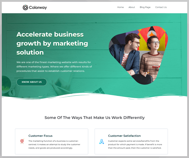 Colorway - Marketing WordPress Theme