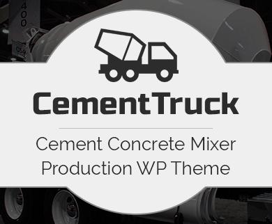 Cement Truck - Cement Concrete Mixer Production WordPress Theme & Template