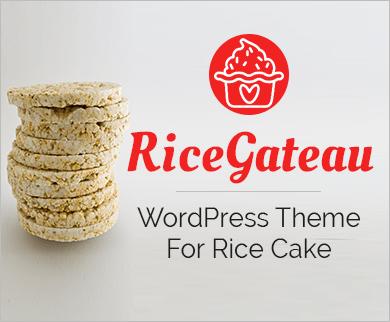Rice Gateau - Rice Cake WordPress Theme & Template