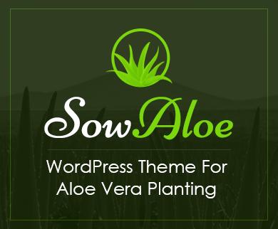 Sow Aloe - Aloe Vera Planting WordPress Theme & Template